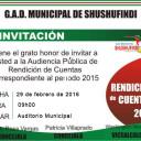 INVITACIÓN A RENDICIÓN DE CUENTAS