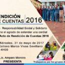 Centro de Responsabilidad Social y Solidario Municipal, Invita al acto de Rendición de Cuentas 2016