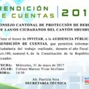 Invitación Rendición de Cuentas 2016